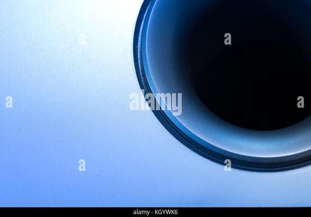 Detail eines Lautsprecher und Subwoofer Stockbild