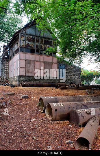 Marode Wasser haus büro, Sangli, Maharashtra, Indien, Asien Stockbild