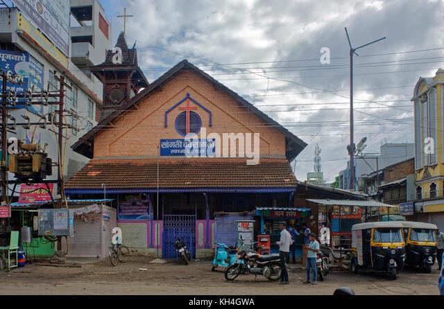 Sangli Kirche, Maharashtra, Indien, Asien Stockbild