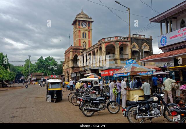 Laxmi Markt bei miraj, Maharashtra, Indien, Asien Stockbild