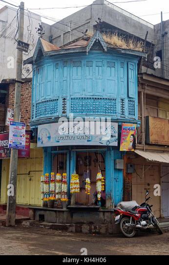 Shop auf Mahatma Gandhi Marg, miraj, Maharashtra, Indien, Asien Stockbild