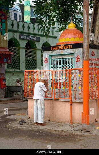 Shree ram Mandir in der Nähe von dargah Shah, miraj, Maharashtra, Indien, Asien Stockbild