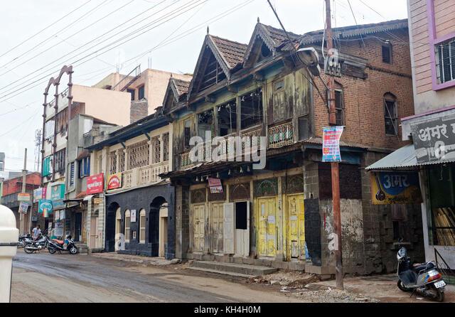 Altes Haus, miraj, Maharashtra, Indien, Asien Stockbild