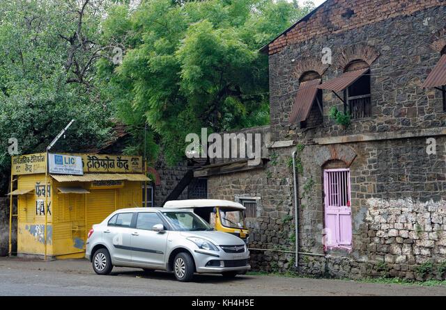 Telefonzelle, Kolhapur, Maharashtra, Indien, Asien Stockbild