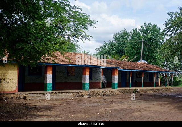 Alte Schule, avarkhod, belagavi, Karnataka, Indien, Asien Stockbild