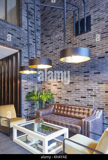 Rezeptionsbereich. 55 Victoria Street, London, Großbritannien Architekt: steif+trevillion Architekten, 2017. Stockbild