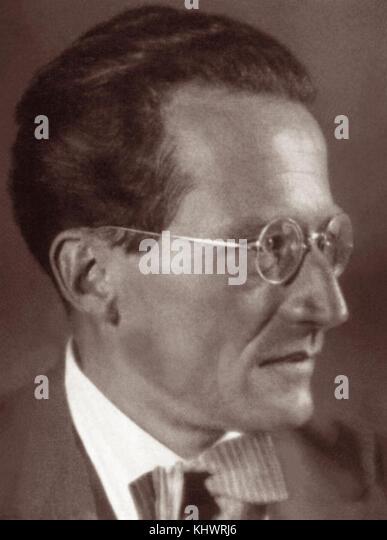 Dr. Erwin Schrödinger (1867-1961), österreichischer Physiker und Sieger der nobe Preis für Physik Stockbild
