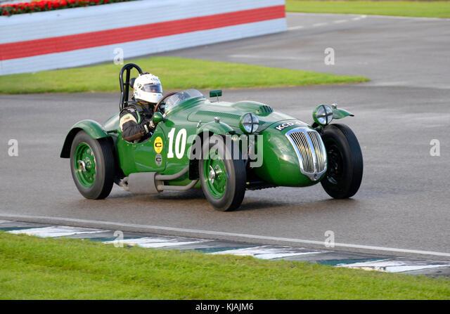 1953 Frazer Nash le Mans angetrieben von Patrick blakeney - Edwards von Martin hunt Racing in der Freddie März Stockbild