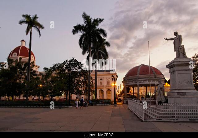 Plaza Marti in Cienfiegos Kuba Stockbild