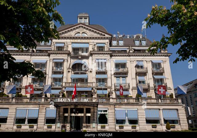 Hotel Eden au Lac, Zürich See, Zürich, Schweiz Stockbild