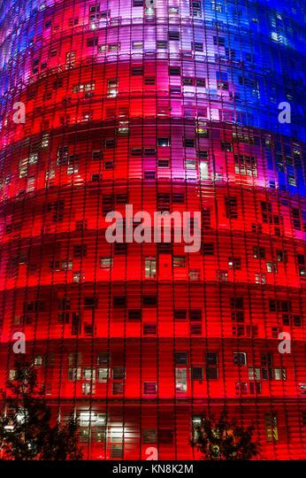 Torre Agbar von Jean Nouvel, Barcelona, Katalonien, Spanien, nur   redaktionelle Verwendung Stockbild