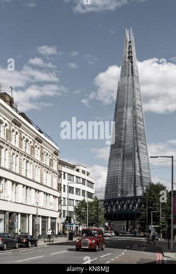 Der Shard, Taxi, London, UK Stockbild