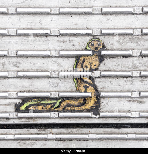 Ben Wilson's Kauen Gumm Kunst an Millnenium Bridge, London, UK Stockbild