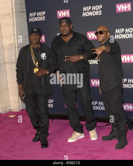 New York, NY - 11. Juli 2016: Die Lox: Jadakiss, Sheek Louch, Styles P besuchen 2016 VH1 Hip Hop Honors: All hail Stockbild
