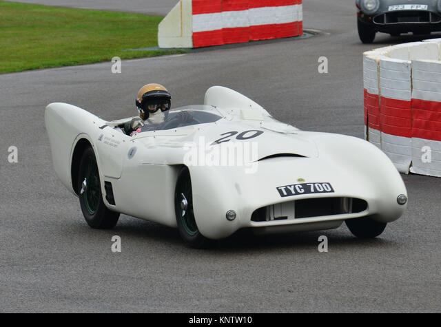 Lotus MG MkVIII, Simon Diffey, madgwick Schale, Goodwood Revival 2013 Stockbild