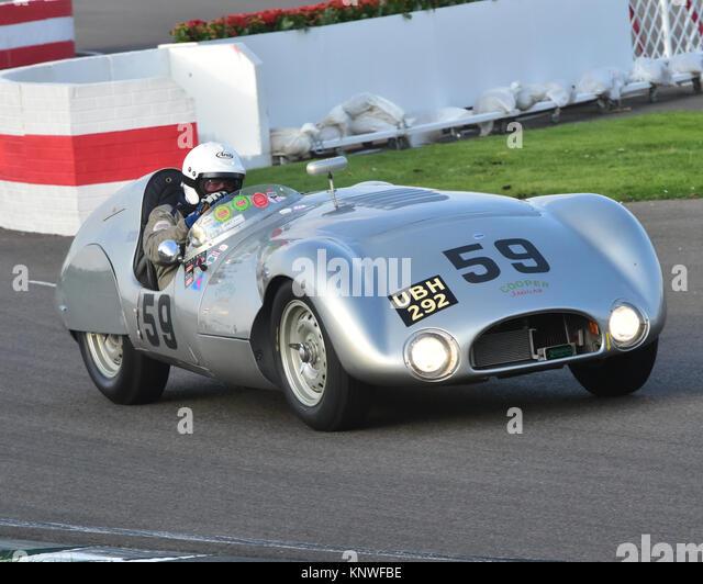 Derek Haube, Cooper-Jaguar T33, UBH 292, Freddie März Memorial Trophy, Goodwood Revival 2014, Goodwood Revival Stockbild