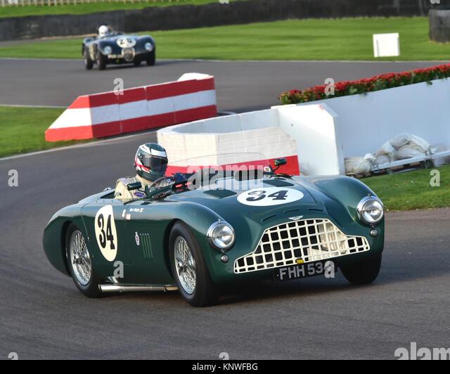 Markieren Midgley, Aston Martin DB3, der FHH 534, Freddie März Memorial Trophy, Goodwood Revival 2014, Goodwood Stockbild
