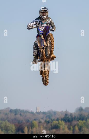 Bill Moynes auf der MXY2 Yamaha an den Maxxis British Motocross Championship, Lyng, Cadders Hill, Norfolk, Großbritannien. Stockbild