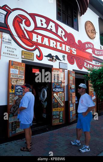 San Nicolas, Charlies Bar, Aruba, Niederländische Antillen Stockbild