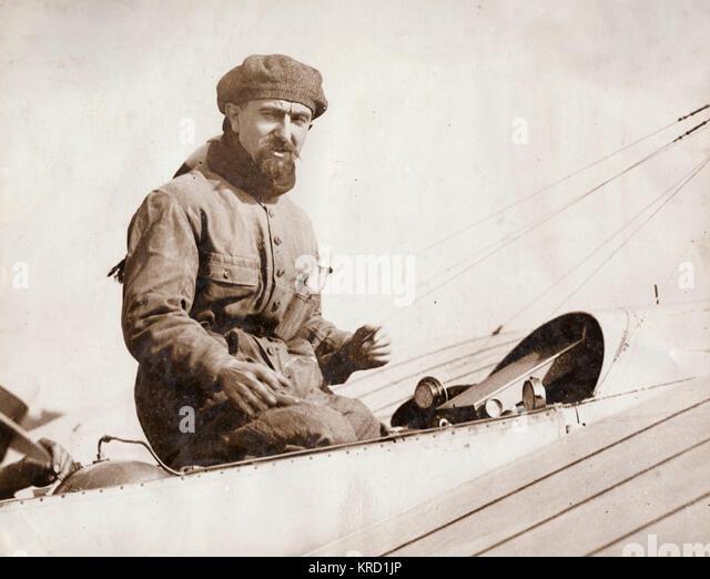 Andre Beaumont von der Französischen Marine, Sieger des Großen Air Race, auch als die runde Großbritannien Stockbild