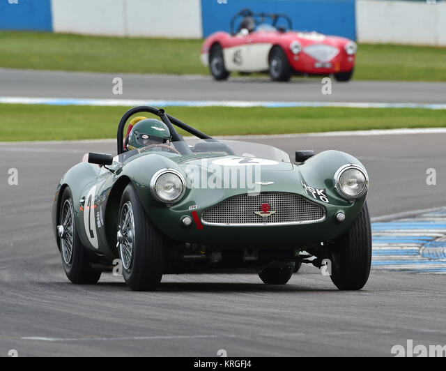 Wolfgang Friedrichs, Simon Hadfield, Aston Martin DB 3 S, Royal Automobile Club, RAC, Woodcote Trophy, Pre-56 Sportwagen, Stockbild