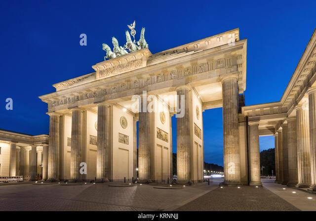 Brandenburger Tor, Brandenburger Tor, Pariser Platz, Berlin Stockbild