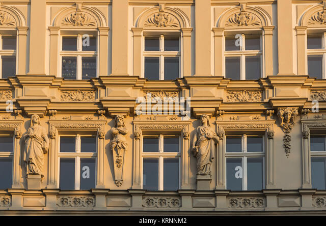 Art Deco Fassade, planufer am Landwehrkanal, Kreuzberg, Berlin, Deutschland Stockbild