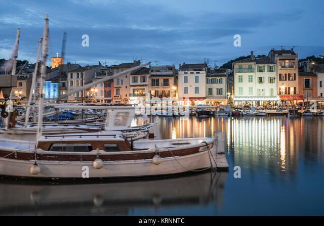 Cassis, Hafen, Provence-Alpes-Cote d'Azur, Bouches-du-Rhone, Frankreich, Stockbild