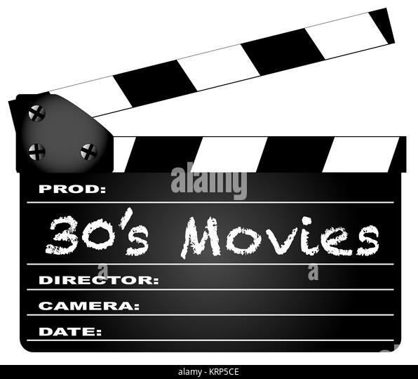 30 Filme Klappe Stockbild