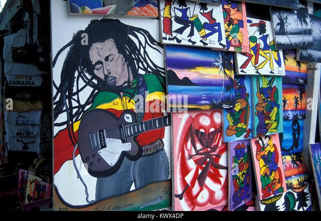 Ochos Rios, dem alten Markt, Jamaika Stockbild