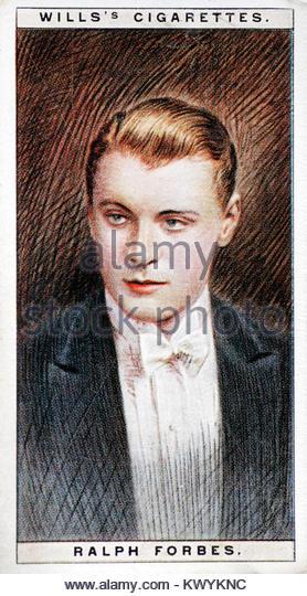 Ralph Forbes war ein englischer Film und Bühne Schauspieler von der Stummfilmzeit 1904 - 1951 Stockbild
