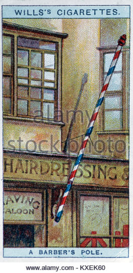 Alte Friseure shop Abbildung: Stockbild