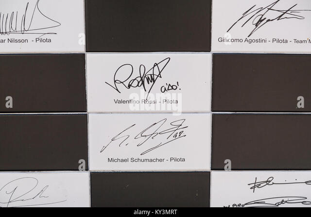Wand der Meister, Biasono, Monza, Italien Stockbild