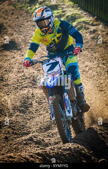 Mitchell Lewis auf die Freestyle Bikes Yamaha MX1 Am 2017 Maxxis British Championship, Cadders Hill, Lyng, Norfolk, Stockbild