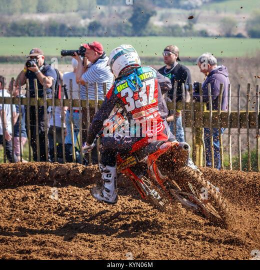 Glenn McCormick auf der Agnew Recovery-Watt MC KTM MX2 Am 2017 Maxxis British Championship, Cadders Hill, Lyng, Stockbild