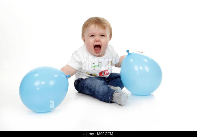 Aggressive toddler, schlechtes Verhalten, Temper Tantrum Stockbild