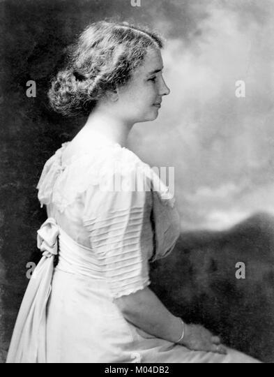 Helen Keller (1880-1968). Phototgraph der Taubblinden Autor und politischer Aktivist c 1909 Stockbild