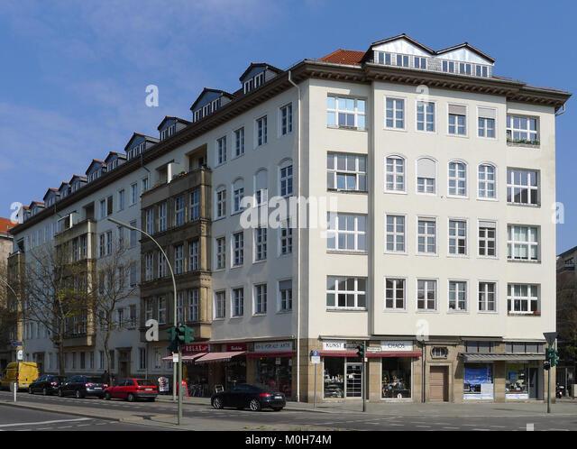 Brandenburgische Straße 12-14 Berlin-Wilmersdorf Stockbild