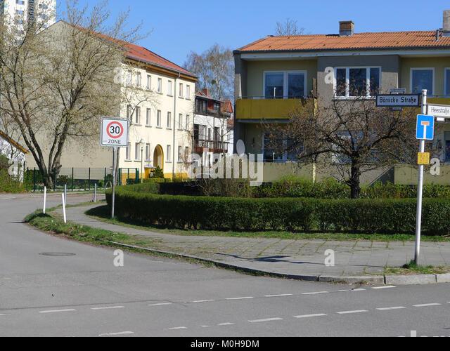 Börnicker Straße (Berlin-Wilhelmstadt) Stockbild