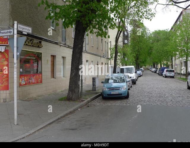 Bürgerstraße (berlin-reinickendorf) Stockbild