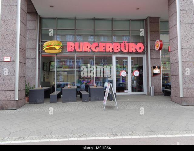 In Berlin-Köpenick Burgerbüro Stockbild