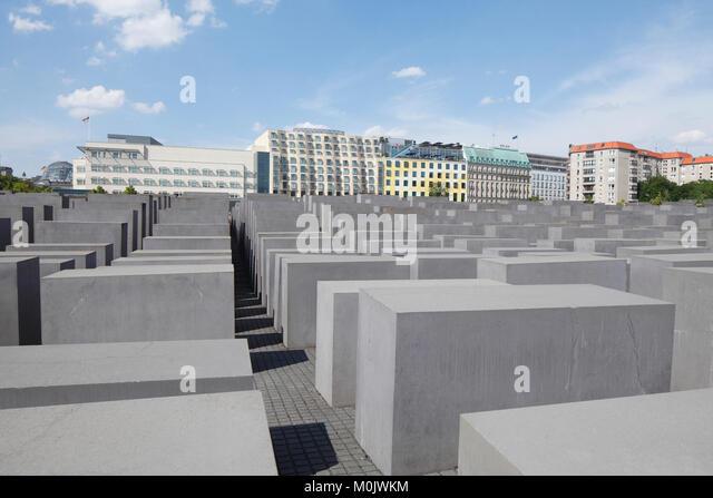 Holocaust Mahnmal, Denkmal für die ermordeten Juden Europas, Berlin, Deutschland, Europa ich Denkmal für Stockbild