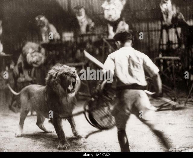 Clive Beatty, löwenbändiger, Berlin Zirkus, 1930 Stockbild