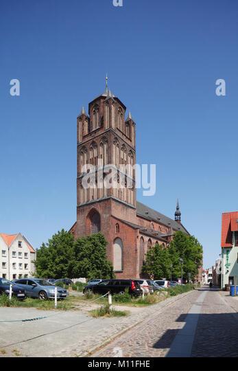 Kirche Jakobikirche, Stralsund, Mecklenburg-Vorpommern, Deutschland, Europa ich Jakobikirche, Altstadt, Stralsund, Stockbild