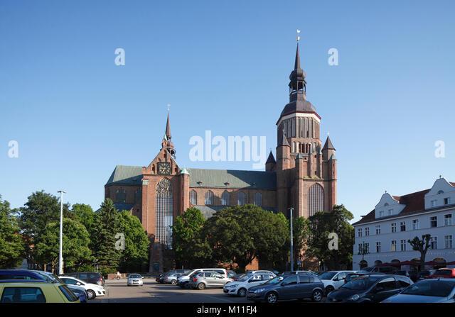 Marienkirche, Stralsund, Mecklenburg-Vorpommern, Deutschland, Europa ich Marienkirche am Neuen Markt, Altstadt, Stockbild