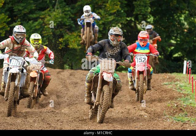Scrambling an der NGR und ACU östlichen EVO Solo Motocross Meisterschaften, Cadders Hill, Lyng, Norfolk, Großbritannien. Stockbild