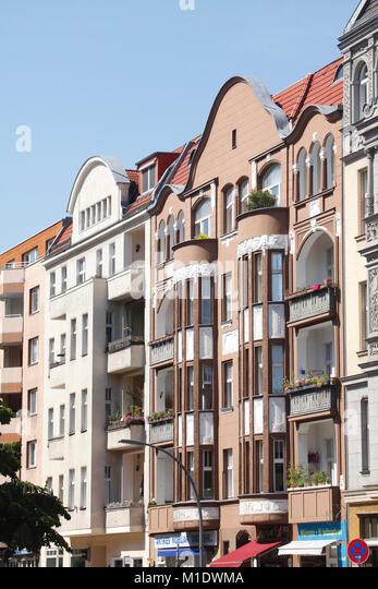 Wohnhaus, alte Gebäude, Hausfassade in Charlottenburg, Berlin, Deutschland, Europa ich Wohngebäude, Altbauten, Stockbild