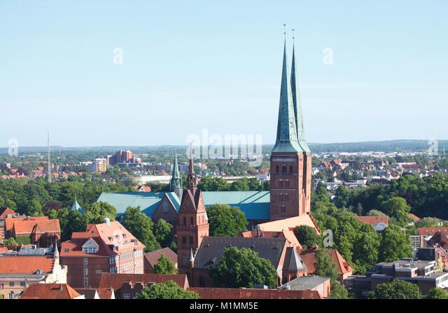 Lübecker Dom Kirche, Dom, Lübeck, Schleswig-Holstein, Deutschland, Europa Stockbild