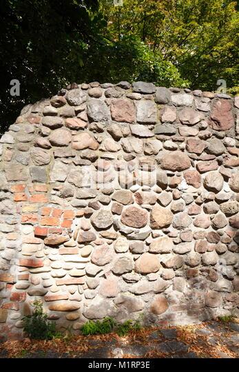 Alte Stadtmauer, Klosterviertel Bezirk, Berlin, Deutschland, Europa Stockbild