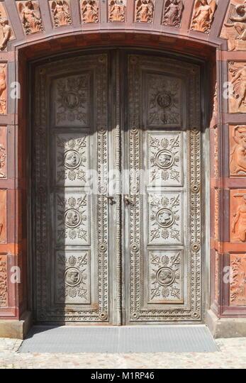 Alte Tür, Berlin, Deutschland, Europa Stockbild
